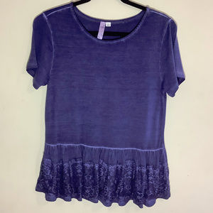Alya Tee with Lacey Peplum